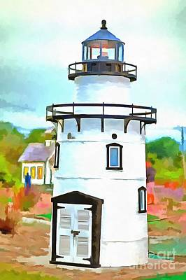 Lighthouse At Old Saybrook Point Poster by Edward Fielding