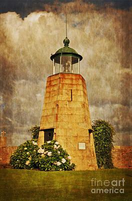 Lighthouse - La Coruna Poster by Mary Machare