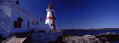 Lighthouse On The Coast, Head Harbour Poster by Panoramic Images