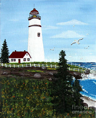 Lighthouse Point Poster by Barbara Griffin