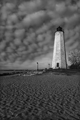 Lighthouse Point Park Bw Poster by Susan Candelario