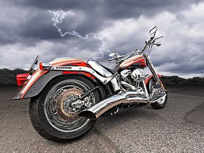Lightning Fast - Screamin' Eagle Harley Poster by Gill Billington