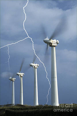 Lightning Strike Poster by Mark Newman