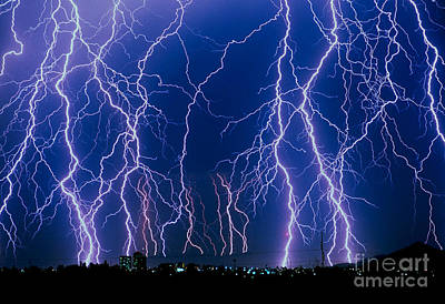 Lightning Strikes Poster by John A Ey III