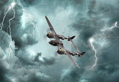 Lightning Strikes Poster by Peter Chilelli