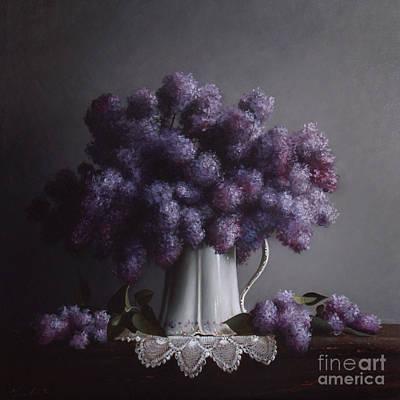 Lilacs Study No.2 Poster by Larry Preston