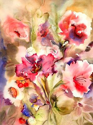 Lilies Poster by Neela Pushparaj