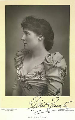 Lillie Langtry Poster by British Library