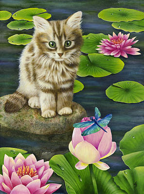 Lilys Pond Poster by Carolyn Steele