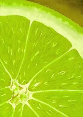 Lime Poster by Anastasiya Malakhova