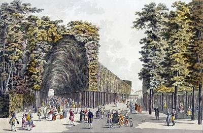 Limegrove Walk, Augarten, Vienna, 1790s Poster by Johann Ziegler