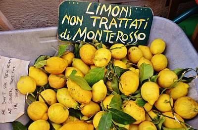 Limoni Non Trattati Poster by Dany Lison
