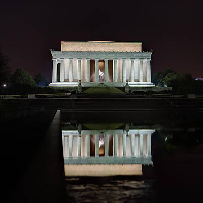 Lincoln Reflection Poster by Metro DC Photography