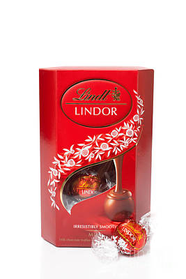Lindor Truffle Chocolates Poster by Amanda And Christopher Elwell