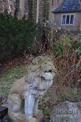 Lion Gargoyle Poster by Leanna Faro