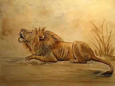 Lion Poster by Juan  Bosco