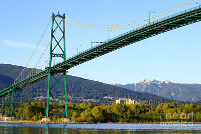 Lions Gate Bridge Poster by Charline Xia