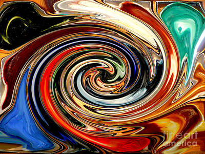 Liquid Paint Abstract Poster by Carol Groenen