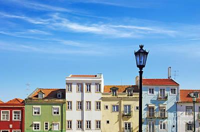 Lisbon Houses Poster by Carlos Caetano