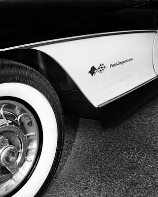 Little Black Corvette Palm Springs Poster by William Dey