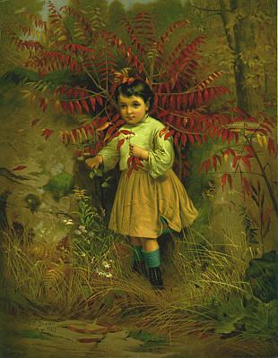 Little Bo Peep 1867 Poster by JG Brown