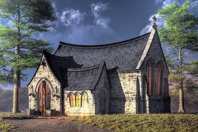 Little Church Poster by Christian Art