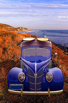 Little Deuce Coupe At The Beach Poster by Ron Regalado