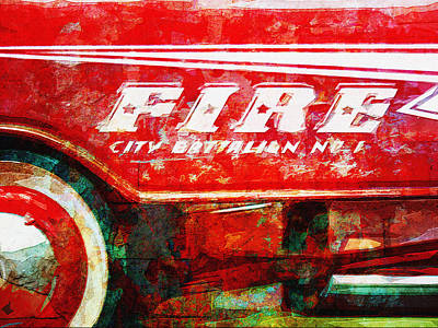 Little Fire Chief Poster by David Kuhn