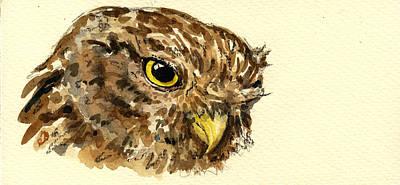 Little Owl Poster by Juan  Bosco