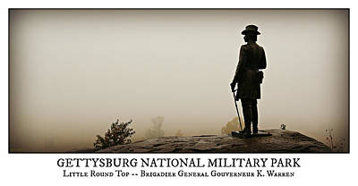 Little Round Top -- Poster Poster by Stephen Stookey