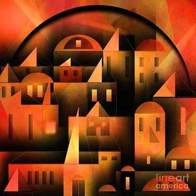 Little Shining City Poster by Franziskus Pfleghart