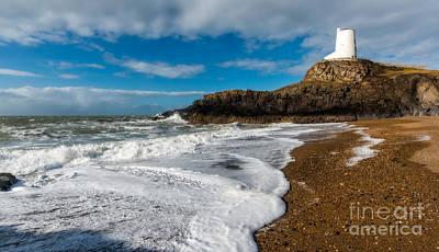 Llanddwyn Island Lighthouse Poster by Adrian Evans