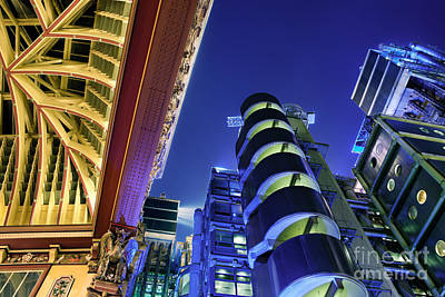 Lloyd's Of London And Leadenhall Market Poster by Rod McLean