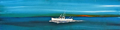 Lobster Boat - Downeast - Tuna Boat Poster by Jeffrey Canha