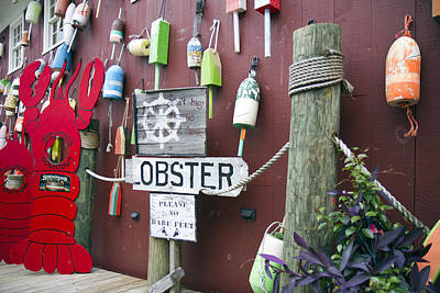 Lobsters And Buoys Poster by Betsy C Knapp