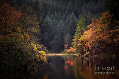 Loch Ard In The Fall Poster by John Farnan