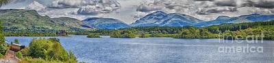 Loch Awe Panorama Poster by Antony McAulay