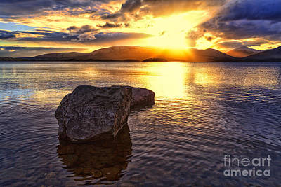 Loch Lomond Sunset Poster by John Farnan