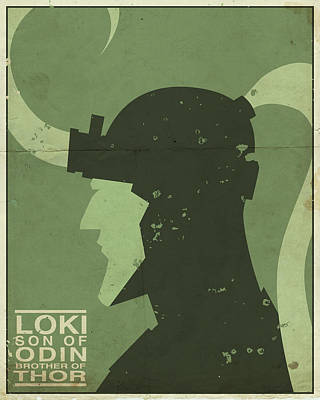 Loki - Son Of Odin Poster by Michael Myers