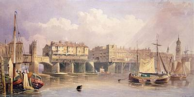 London Bridge, 1835 Poster by George Pyne