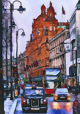 London City 4 Poster by Yury Malkov