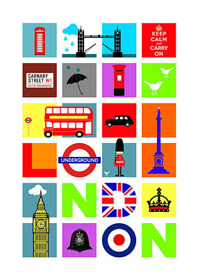 London Poster by Mark Rogan