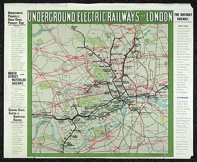 London's Underground Railways Poster by British Library