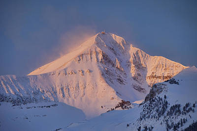 Lone Peak Alpenglow Poster by Mark Harrington