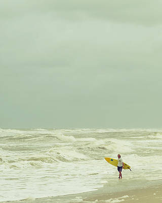 Lone Surfer Poster by Laura Fasulo