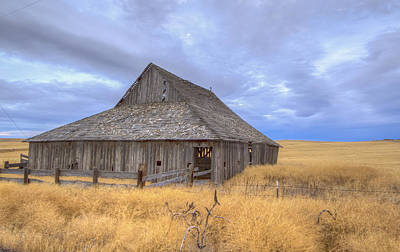 Lonely Barn Poster by Jean Noren