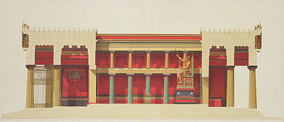 Longitudinal Section Of The Temple Poster by Daumont