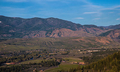 Looking Down On The Town Of Winthrop Washington Landscape Photograph Poster by Omaste Witkowski