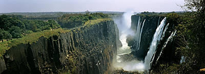 Looking Down The Victoria Falls Gorge Poster by Panoramic Images