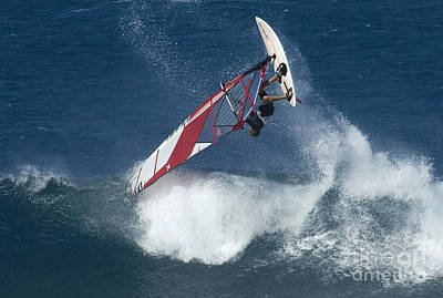 Windsurfing Hawaii Looking For Air Poster by Bob Christopher